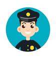 police oficer icon vector image