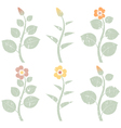 retro grunge abstract flowers vector image