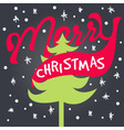merry xmas lettering vector image