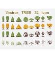 set web icons Tree and seasons vector image