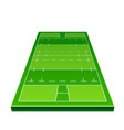 3d rugby playground model for betting vector image vector image