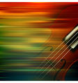 abstract brown motion blur background with violin vector image