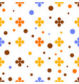 abstract colourful background with flowers vector image vector image