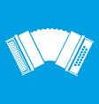 accordion icon white vector image vector image
