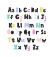 alphabet for kids with capital and small letters vector image vector image