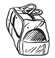 bag black and white vector image