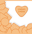 bakery background crackers cookies vector image