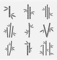 bamboo icons set vector image vector image