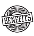 benefits rubber stamp vector image vector image