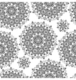 Black and white flower seamless background vector image vector image