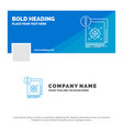 blue business logo template for structure vector image