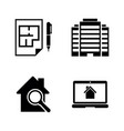 building real estate simple related icons vector image