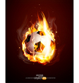 burning football ball vector image vector image