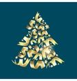 Christmas fir confetty vector image vector image