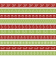 Christmas seamless borders for holiday design vector image