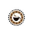 coffee vintage logo vector image vector image