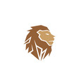 creative abstract brown lion head logo vector image vector image