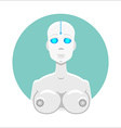 Cyber robot girl vector image vector image