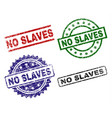 damaged textured no slaves stamp seals vector image