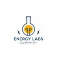energy labs logo design vector image vector image