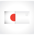 Envelope with Japanese flag card vector image vector image