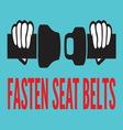 fasten seat belt3 resize vector image vector image