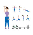 fitness woman doing exercise vector image