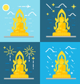 Flat design of Buddha Thailand vector image