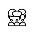 flat editable line people talk icon symbol sign vector image vector image