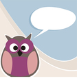 Funny owl talking teaching giving instructions vector image