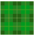 Green Scottish Tartan Design vector image vector image