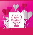 happy valentine day 14 february lovely pink vector image vector image