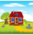 House on glade vector image
