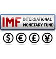 imf international monetary fund world bank vector image vector image