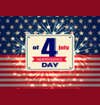 independence day 4th july colorful vector image vector image