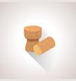 isometric cork plugs vector image