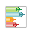 logo airplane colorful vector image