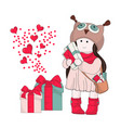 magic gifts merry christmas vector image