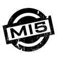 mi5 rubber stamp vector image vector image