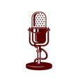 microphone on white background design element for vector image vector image