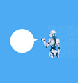 modern robot with chat bubble futuristic vector image vector image