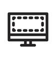 monitor icon vector image vector image