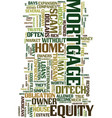 mortgage and home loans text background word vector image vector image