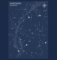 northern hemisphere star map vector image vector image