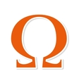omega symbol alphabet icon vector image