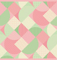 pastel rosy and green geometric seamless pattern vector image vector image