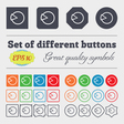 Pie chart graph icon sign Big set of colorful vector image vector image