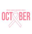 pink ribbon symbol world breast canser vector image vector image
