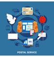 post service round design vector image vector image