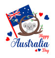 poster on white background happy australia vector image